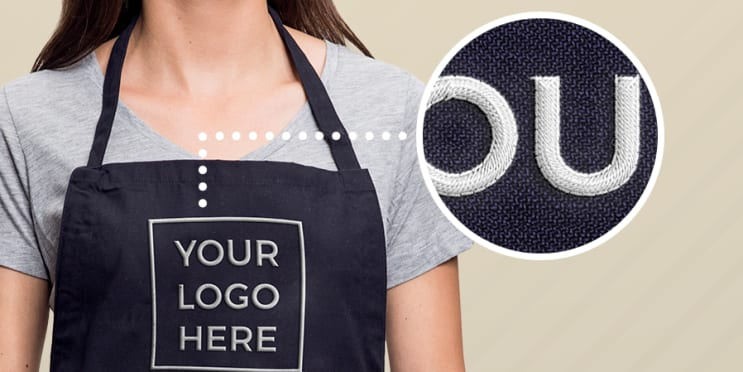Monogrammed Aprons Your Logo on Apron Embroidered Aprons Personalized Linen  Apron -\u00a0Handprinted Quote Print
