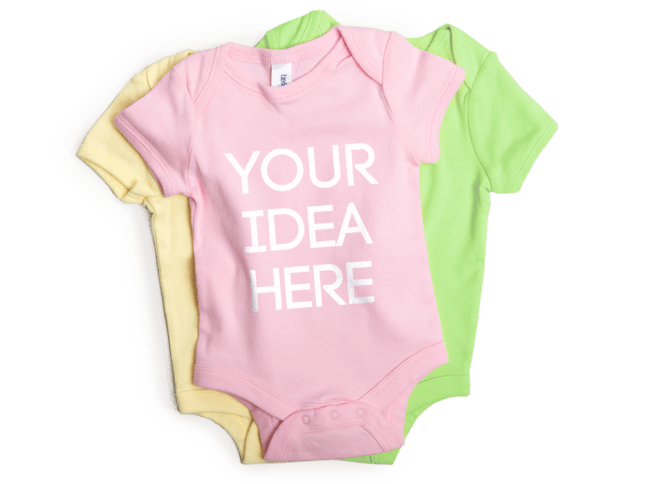 Custom baby clothes and personalized onesies spreadshirt