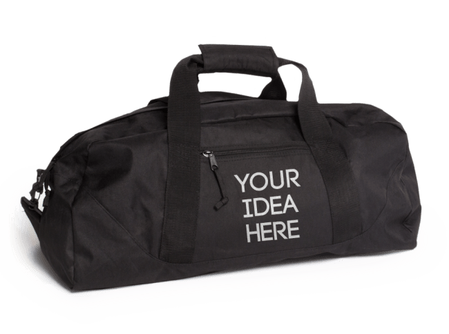 Custom Embroidered Logo Gym Duffle Bag