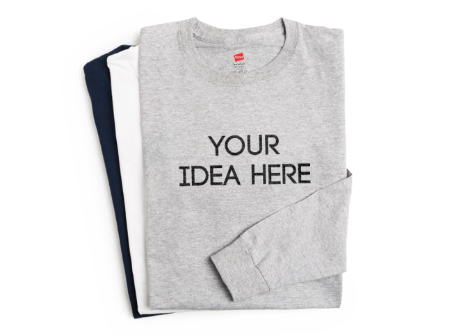 Get creative with your own custom long sleeve t shirts