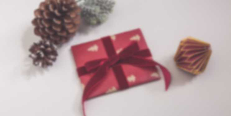 Gift certificate with Christmas wrapping