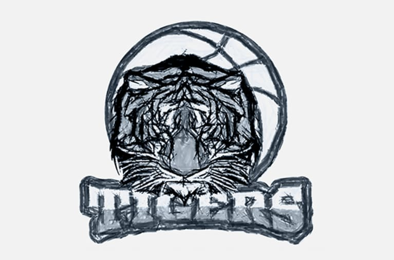 Example of a sketched team logo