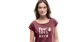 Woman with customized T-shirt