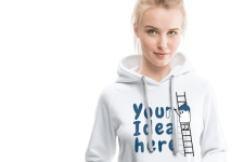 Woman with customized Hoodie