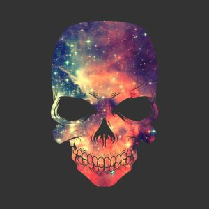 universe space galaxy skull bags backpacks