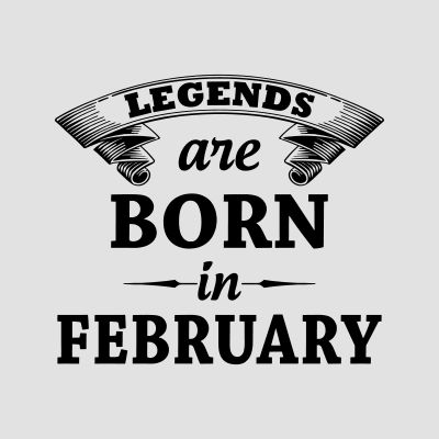 Born in February T-Shirts