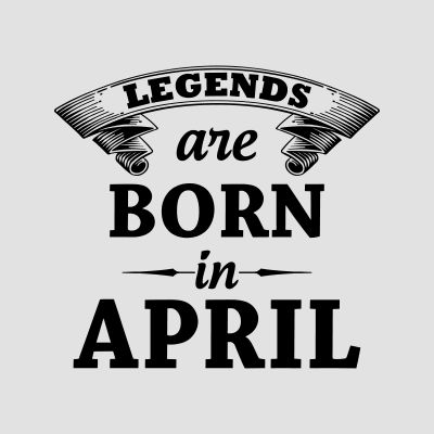 Born in April T-Shirts
