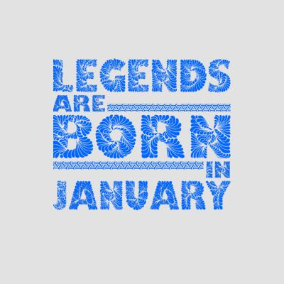 Born in January T-Shirts