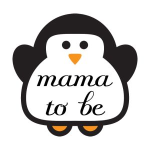 penguin mama to be maternity t shirt