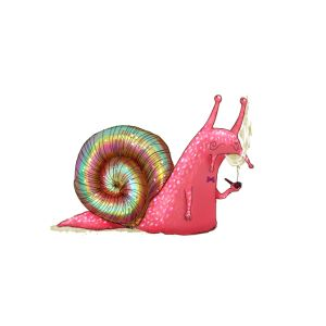 lsd visions a pink snail smoking a pipe t shirt