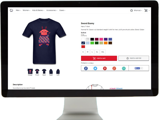 Sell T Shirts Clothing Free Online Shop Spreadshirt