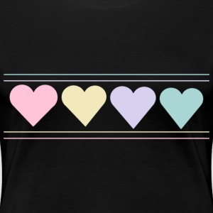 Women's Hearts T-Shirt - Women's Premium T-Shirt
