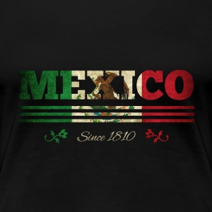 Vintage colorized flag Mexico since 1810 - Women's Premium T-Shirt