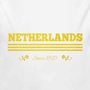 vintage golden NETHERLANDS since 1815 - Long Sleeve Baby Bodysuit