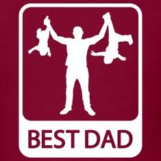 Best Dad - Funny Silhouette of Father and Children
