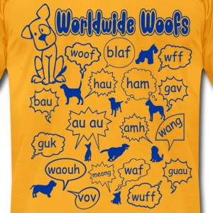 worldwide_woofs T-Shirts - Men's T-Shirt by American Apparel