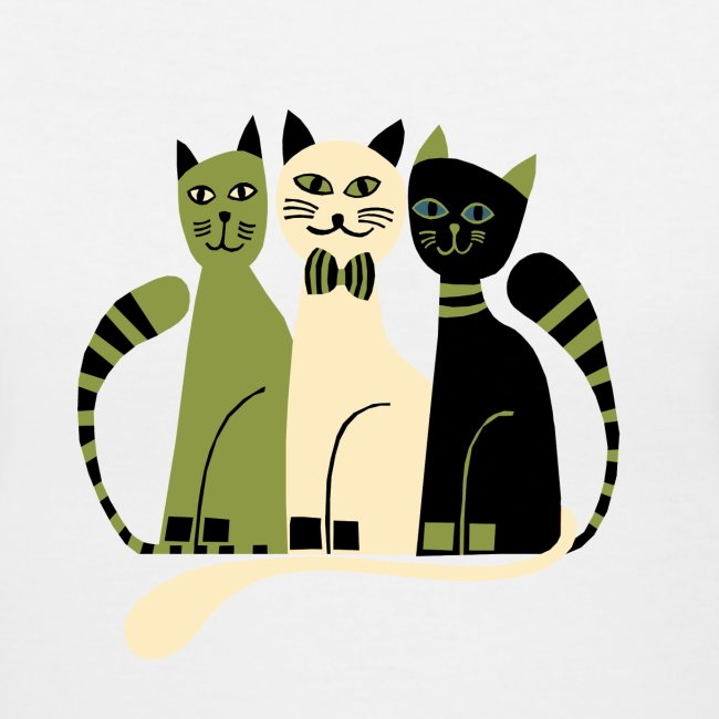 Cozy Cats V-Neck Tee