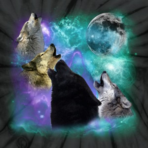 Wolves Coven Emeral night 2 CR T-Shirts - Unisex Tie Dye T-Shirt