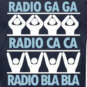 radio ga ga T-Shirts - Men's T-Shirt by American Apparel