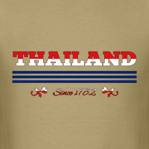 vintage colorized flag Thailand since 1782 - Men's T-Shirt