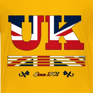 colorized flag vintage UK since 1801 - Kids' Premium T-Shirt