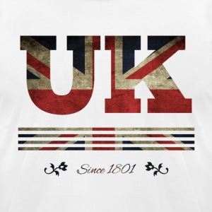 colorized flag vintage UK since 1801 - Men's T-Shirt by American Apparel