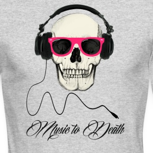 DJ SKULL Music to Death Long Sleeve Shirts - Men's Long Sleeve T-Shirt by Next Level