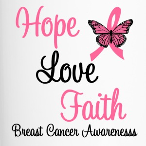 Hope Love Faith Breast Cancer Bottles & Mugs - Travel Mug