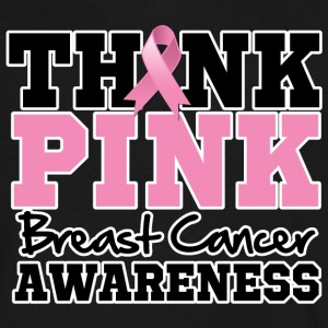 Think Pink Breast Cancer - Men's V-Neck T-Shirt by Canvas