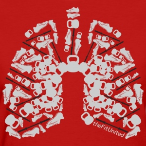 Fitted WOD Lungs Grey- Womens - Women's T-Shirt