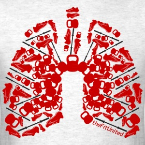 WOD Lungs Red - Men's T-Shirt