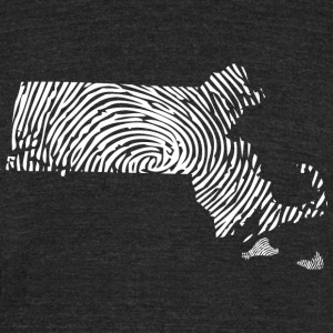 Massachusetts Fingerprint State Apparel  T-Shirts - Unisex Tri-Blend T-Shirt by American Apparel