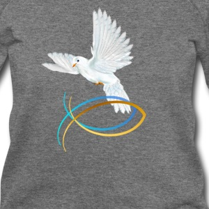 Dove and Fish Symbol-Easter - Women's Wideneck Sweatshirt