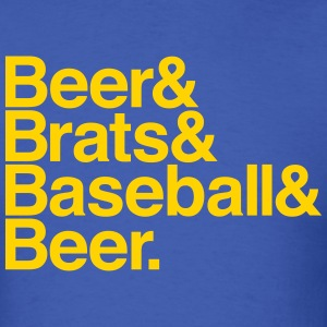 BEER & BRATS & BASEBALL T-Shirts - Men's T-Shirt