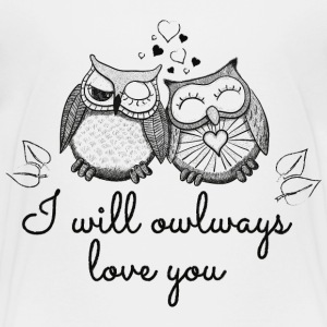 i will owlways love you owls Kids' Shirts - Kids' Premium T-Shirt