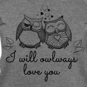 i will owlways love you owls Long Sleeve Shirts - Women's Wideneck Sweatshirt