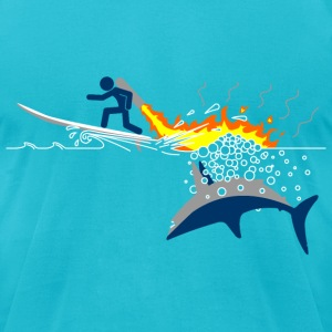 Jet-Pack VS Shark - Men's T-Shirt by American Apparel