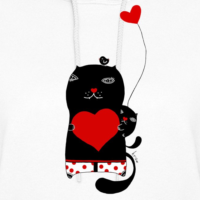 Cats with Hearts Hoodie