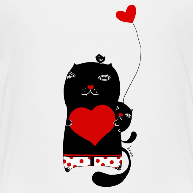 Cats with Hearts Toddler Tee