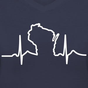 Wisconsin Heart Beat Apparel Clothing T-Shirts Women's T-Shirts - Women's V-Neck T-Shirt
