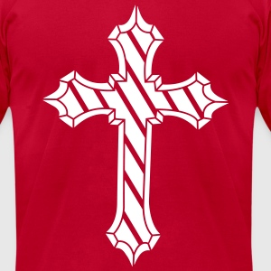 Metal cross T-Shirts - Men's T-Shirt by American Apparel