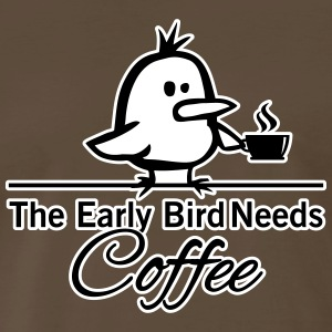 The early bird needs COFFEE T-Shirts - Men's Premium T-Shirt