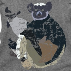 Madagascar Lemur (Indris) Long Sleeve Shirts