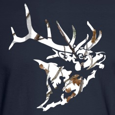 Snow Camo Elk Head