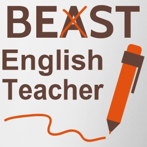 Funny Beast or Best English Teacher Bottles & Mugs - Contrast Coffee Mug