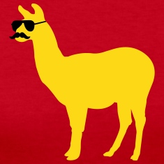 Funny llama with sunglasses and mustache Long Sleeve Shirts