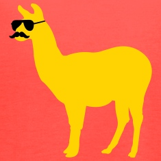 Funny llama with sunglasses and mustache Tanks
