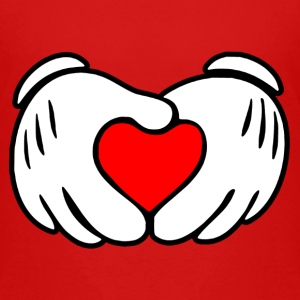 Mickey hands in heart shape - Toddler Premium T-Shirt