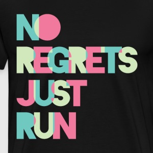 No regrets Just run - Men's Premium T-Shirt