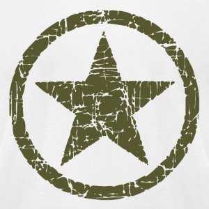 Vintage Army Star T-Shirts - Men's T-Shirt by American Apparel